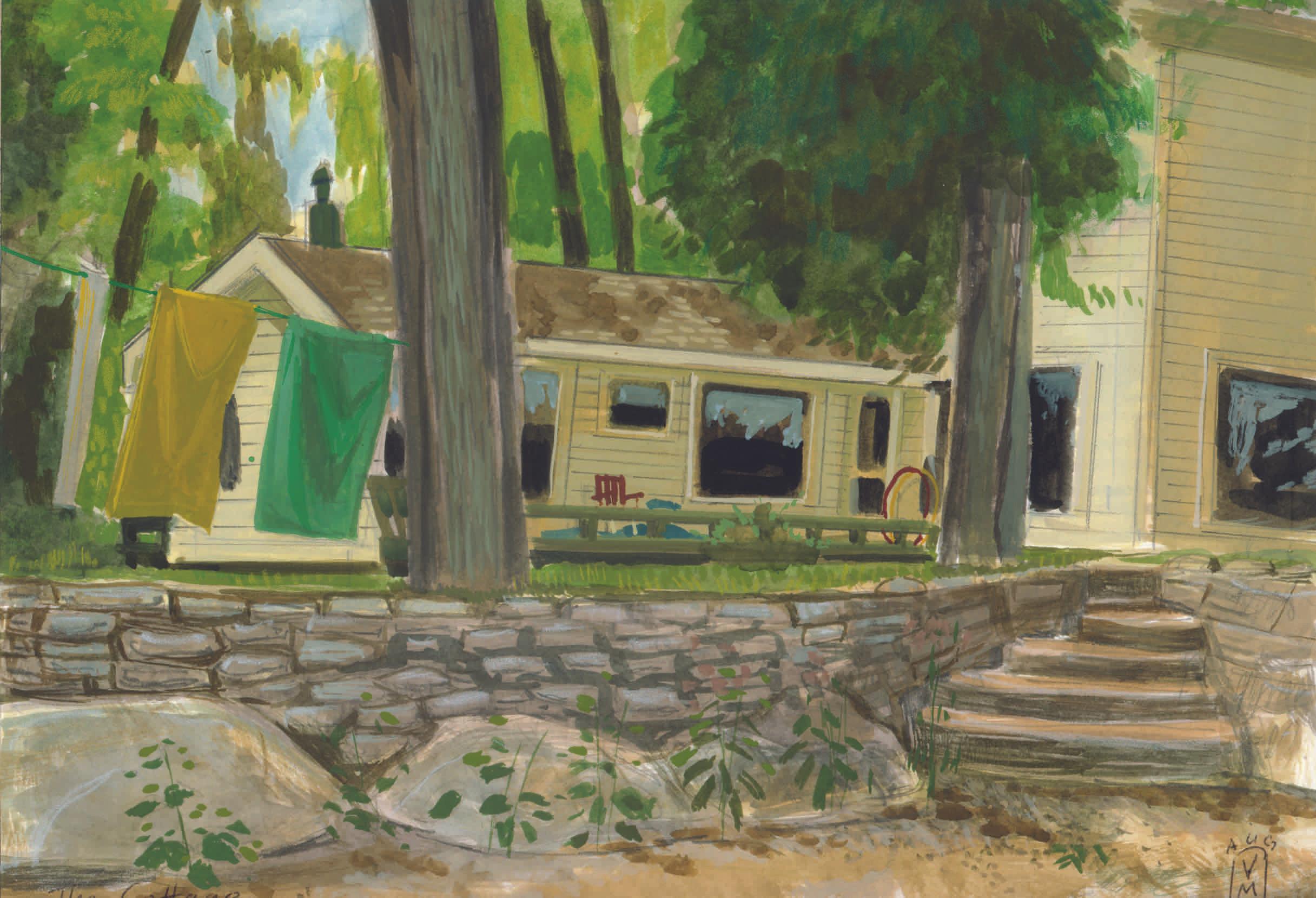 Vermont. Isle La Motte. Family Cottage