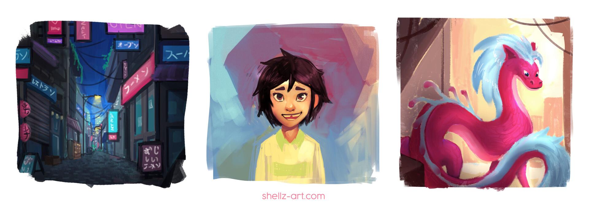 Shellz art portfolio ready yay 1