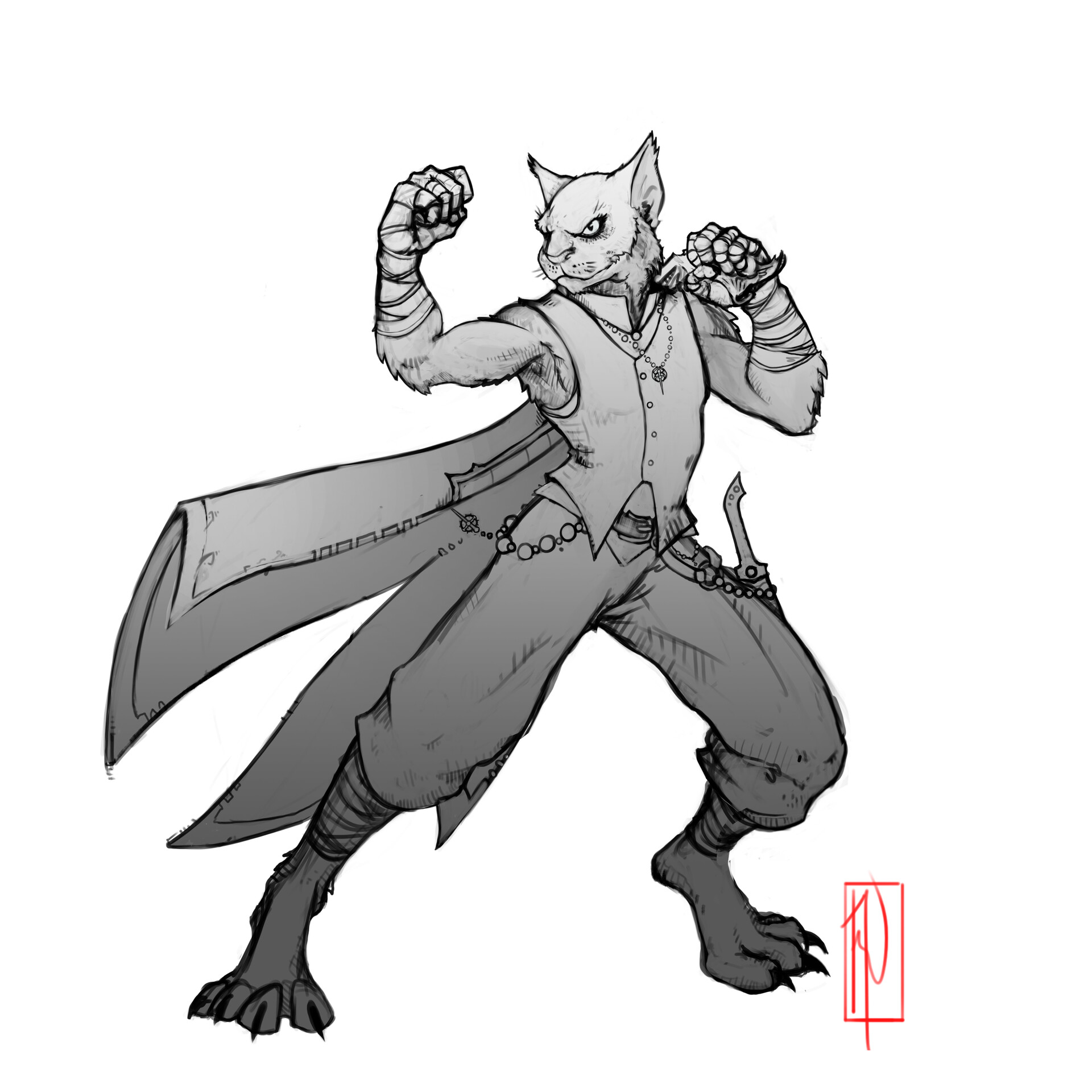 Artstation Tabaxi Monk Rogue Unseen Shadow Commission Nicholas Rookzer0 I had no idea there were cat people in dnd now?? artstation tabaxi monk rogue unseen
