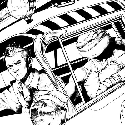 Donny d tran tmnt ghostbuster cover without fade