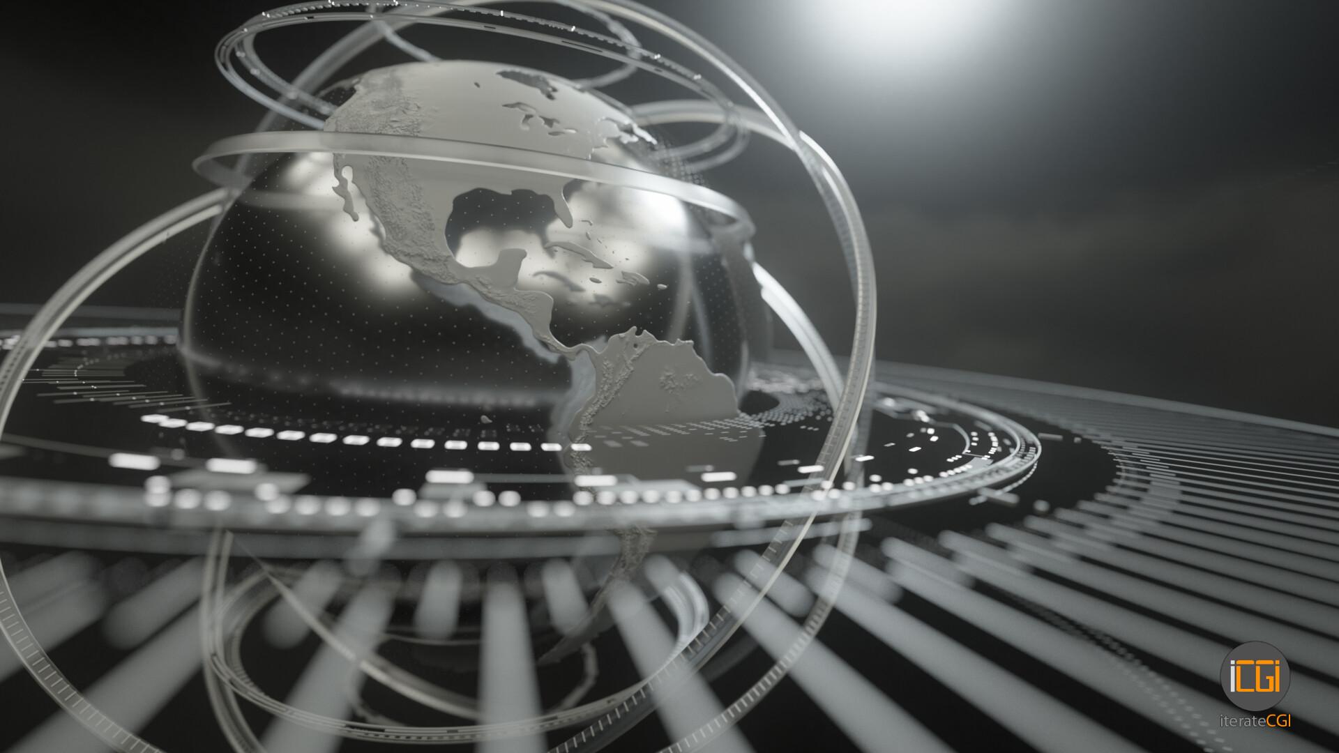 Johan de leenheer globe motion graphic 2