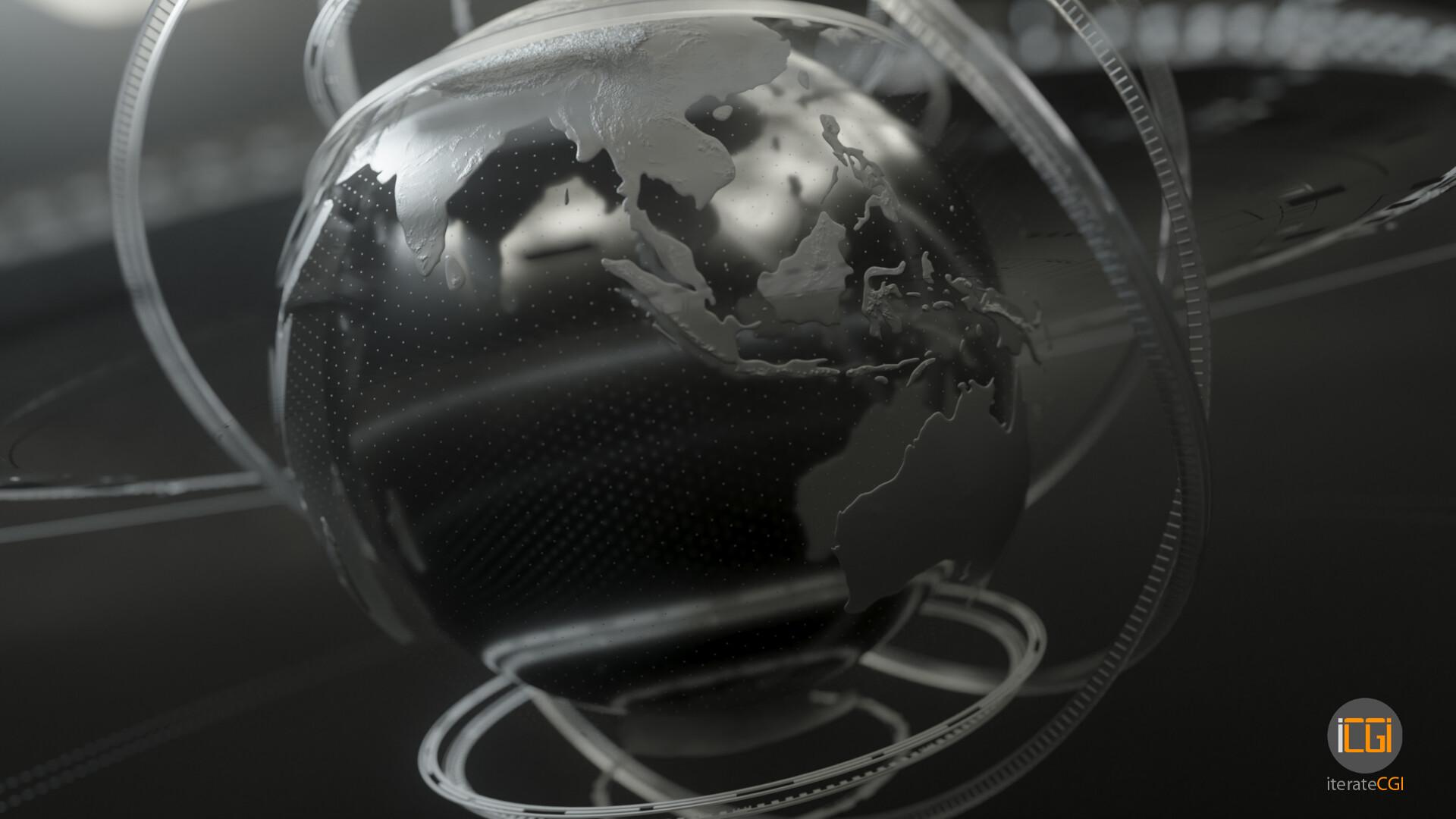 Johan de leenheer globe motion graphic 10