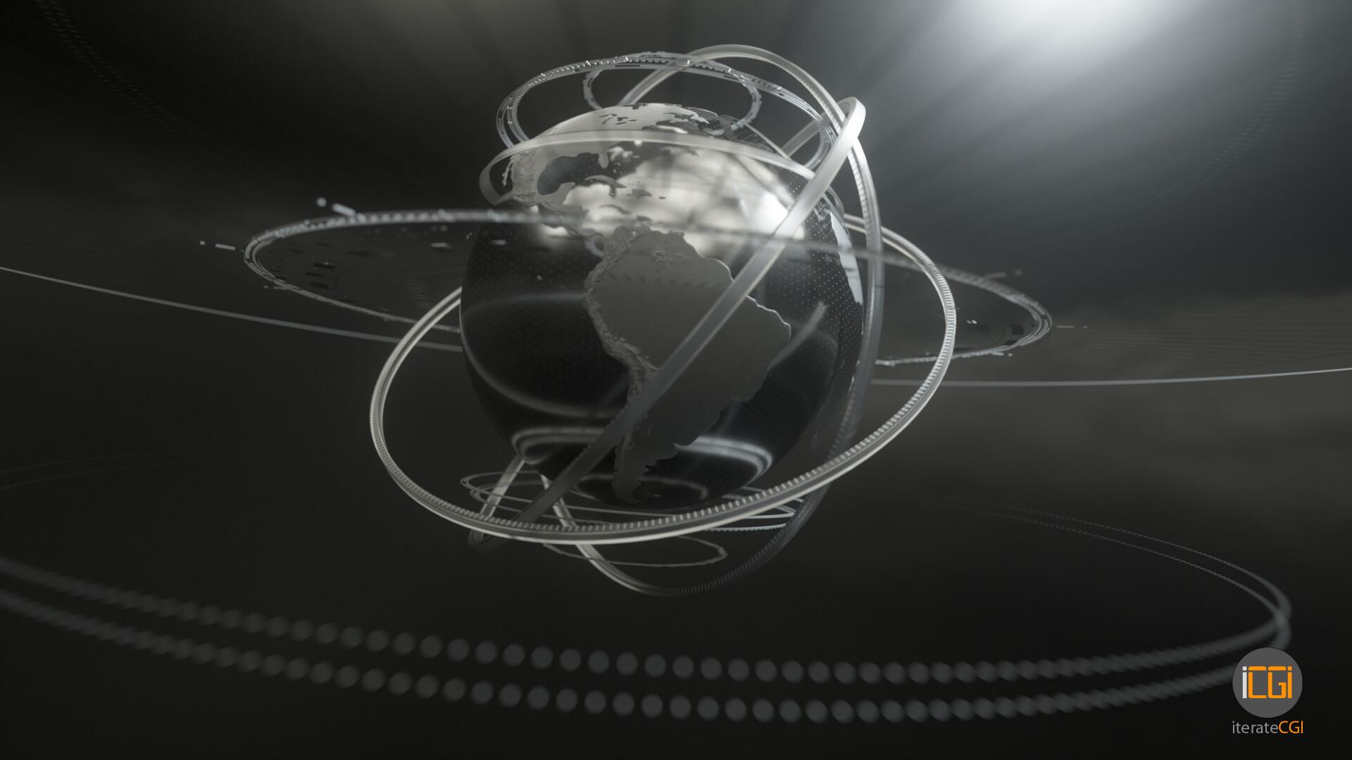 Johan de leenheer globe motion graphic 4