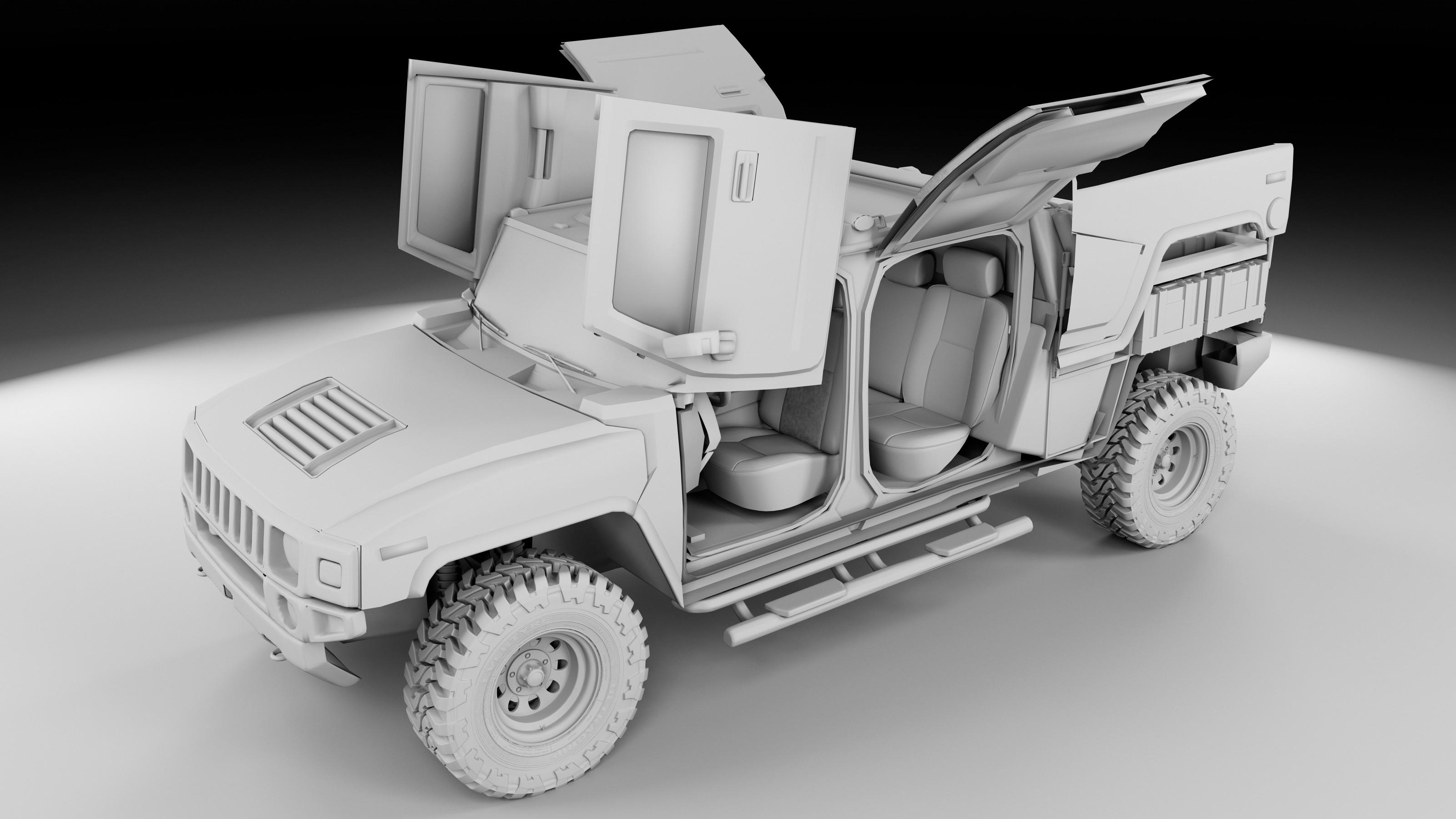 Hummer H3T design