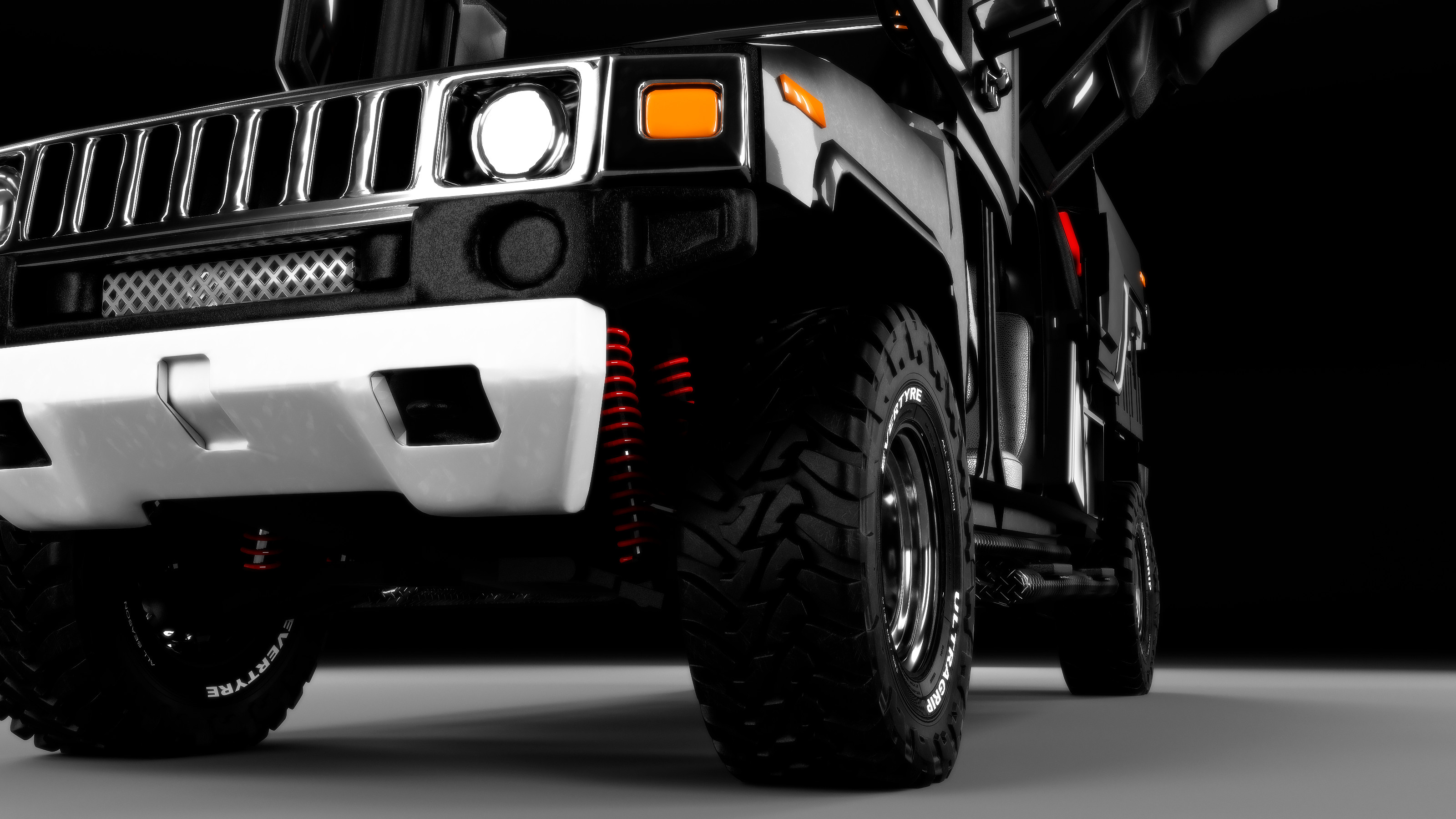 Hummer H3T front