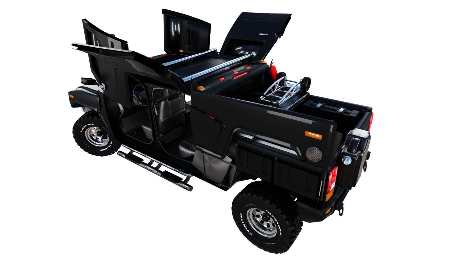 Hummer H3T back