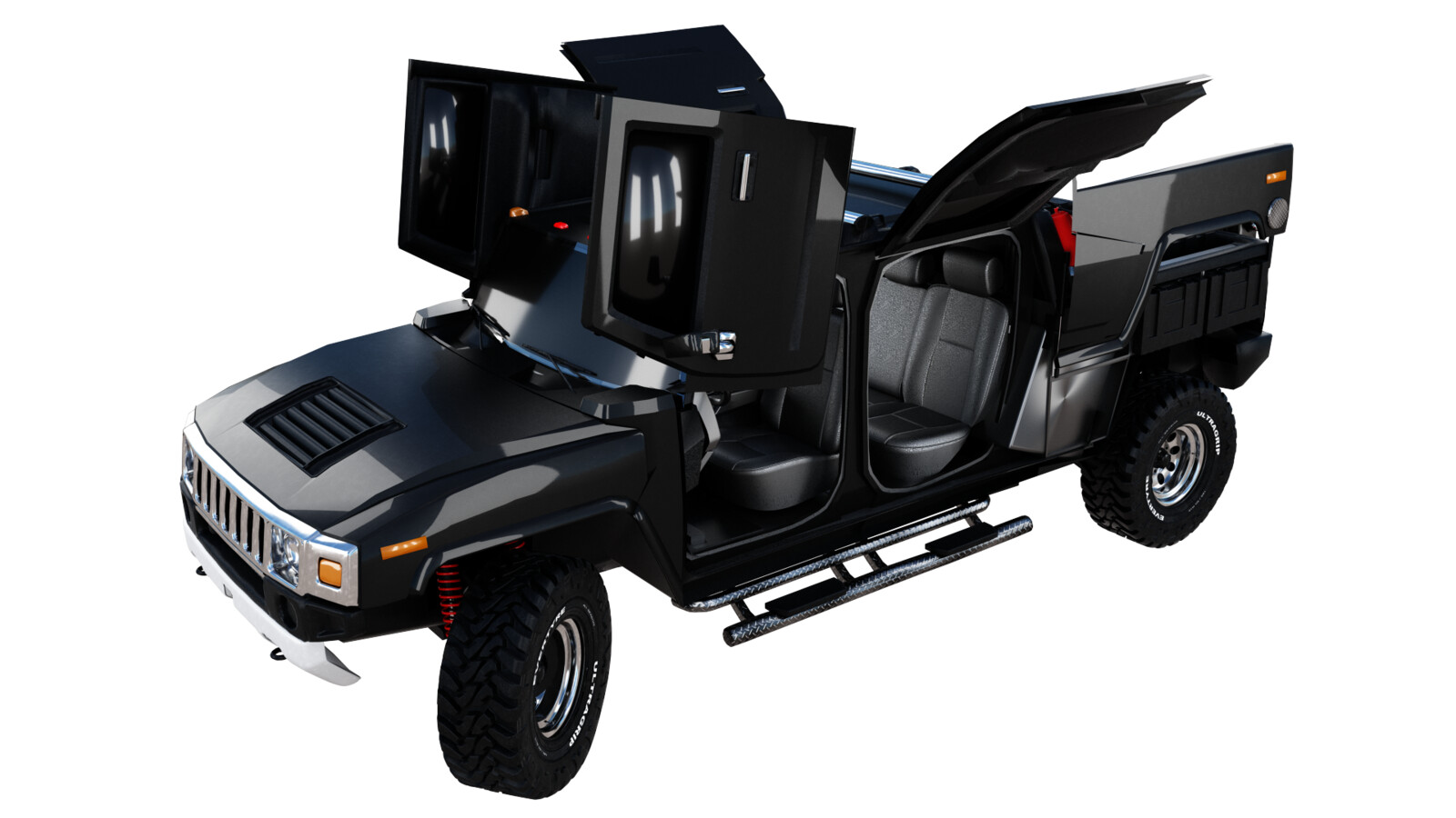 Hummer H3T perspective