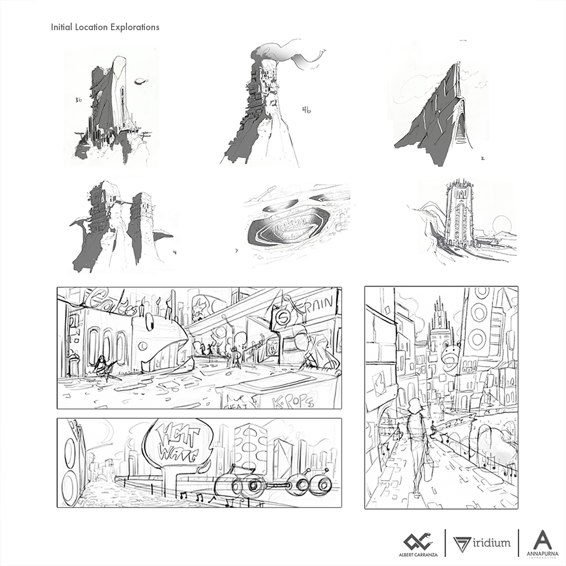 Concepts for an RPG from Iridium Games and Annapurna Interactive
