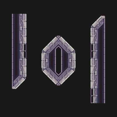 Space Station Tiles - Inspired by Metroid Fusion
