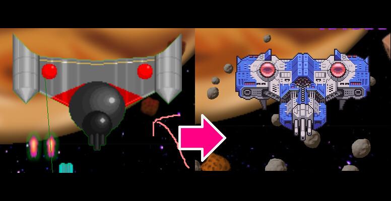 Left: Original Design/Sprite Right: Sprite/Design Rehaul