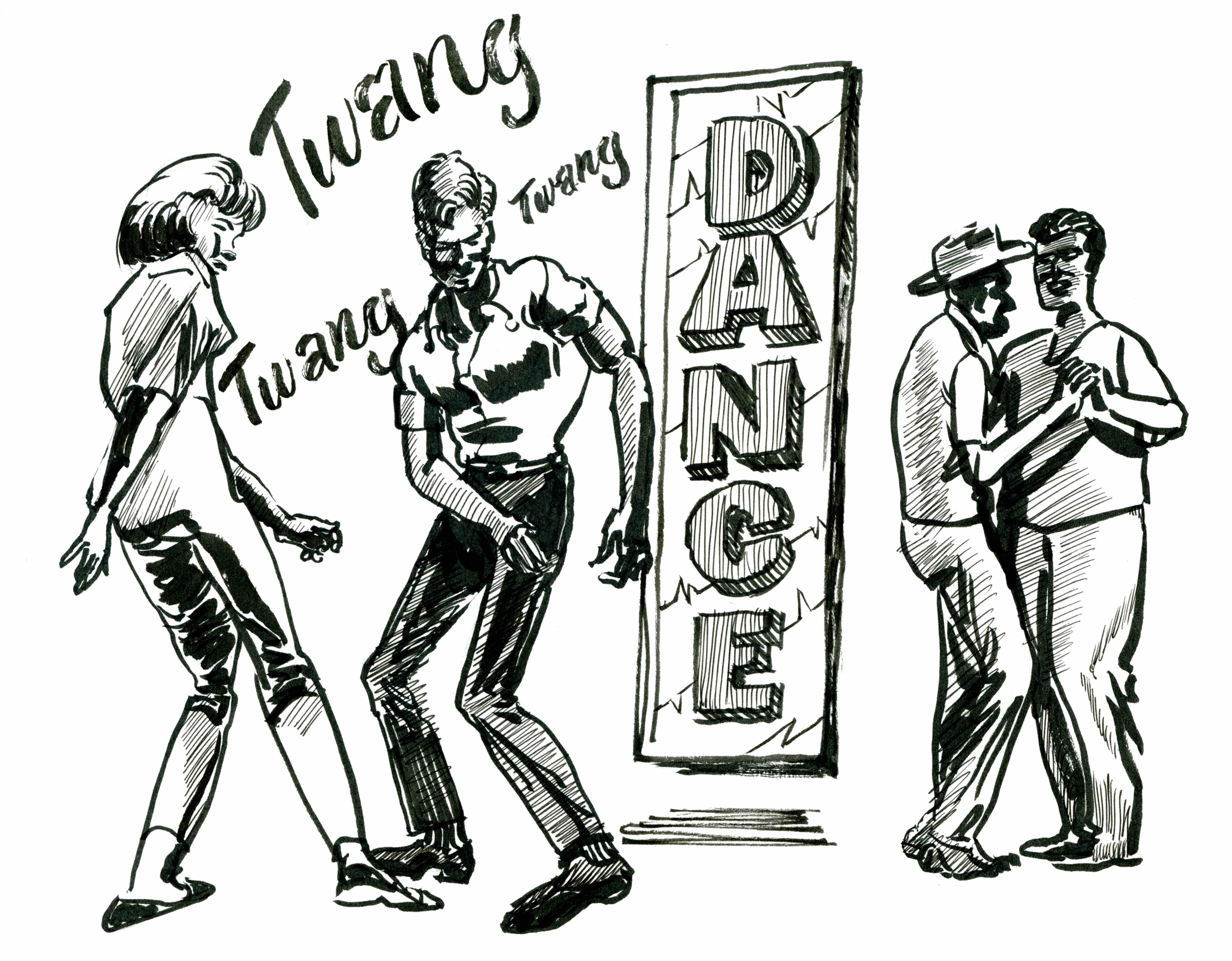 Use photographic reference. I used photos as models to draw popular dance moves from the 60's