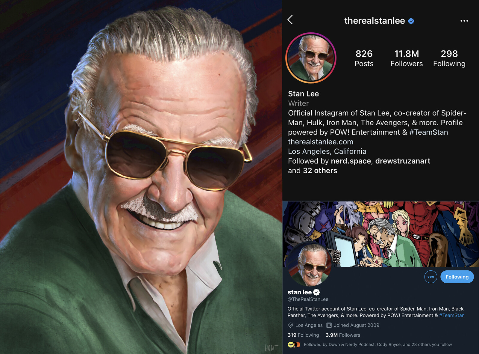 Stan Lee Social Media painting