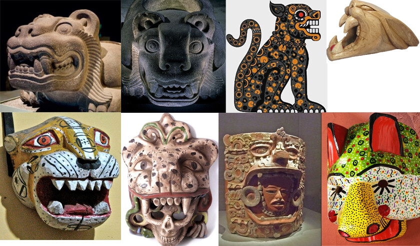 The Jaguar, representation of the high class and warriors in Mayan Culture - visual inspiration - Brian