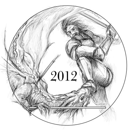 George and the Dragon coin concept