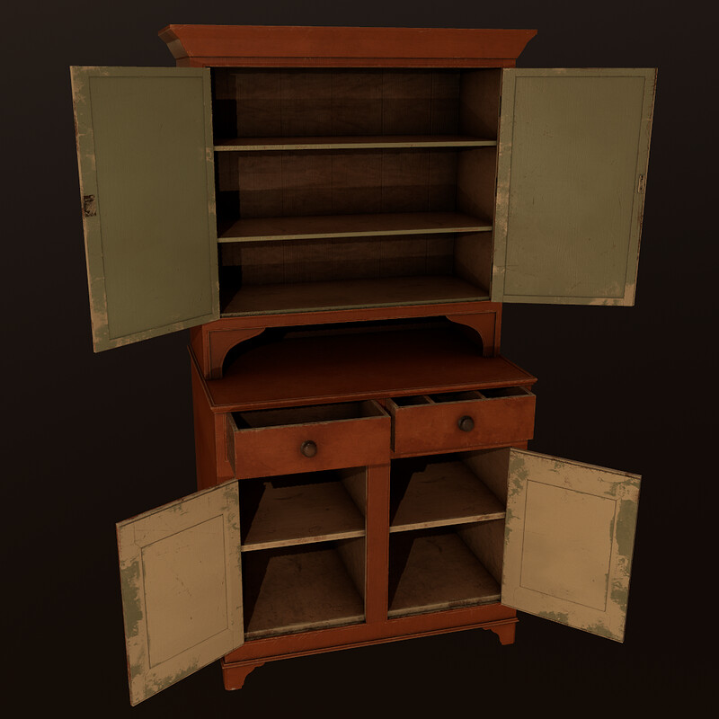 Old Cabinet (Part of Horror Living Room Asset Pack - WIP)