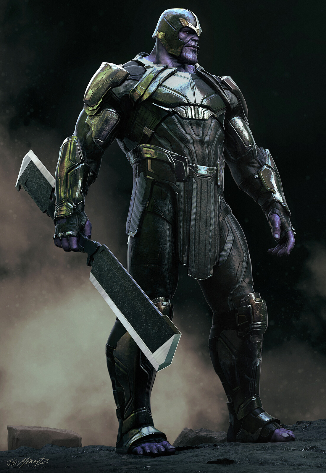 Avengers Endgame: Early Warrior Thanos Design