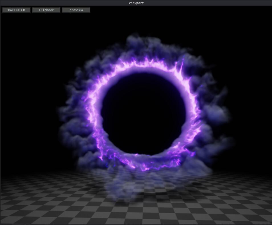 Dark Portal dissipating