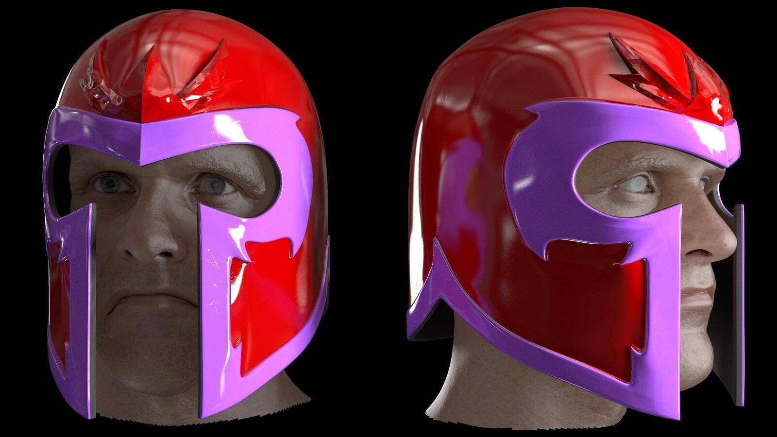 Magneto cosplay helmet