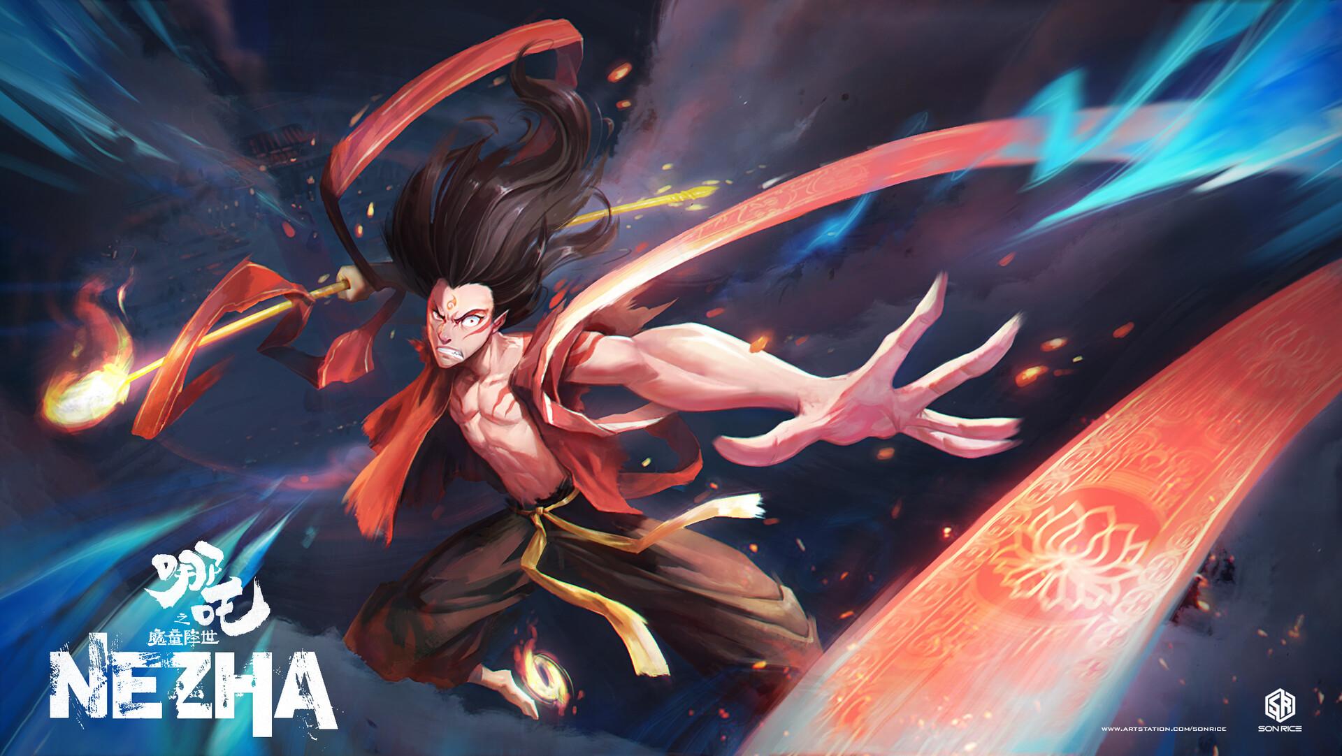 Artstation The Legend Of Nezha 2019 Nezha Son Rice