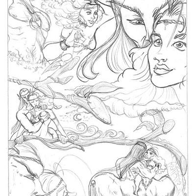 Teresa guido pencil sketch comic by teresaguido