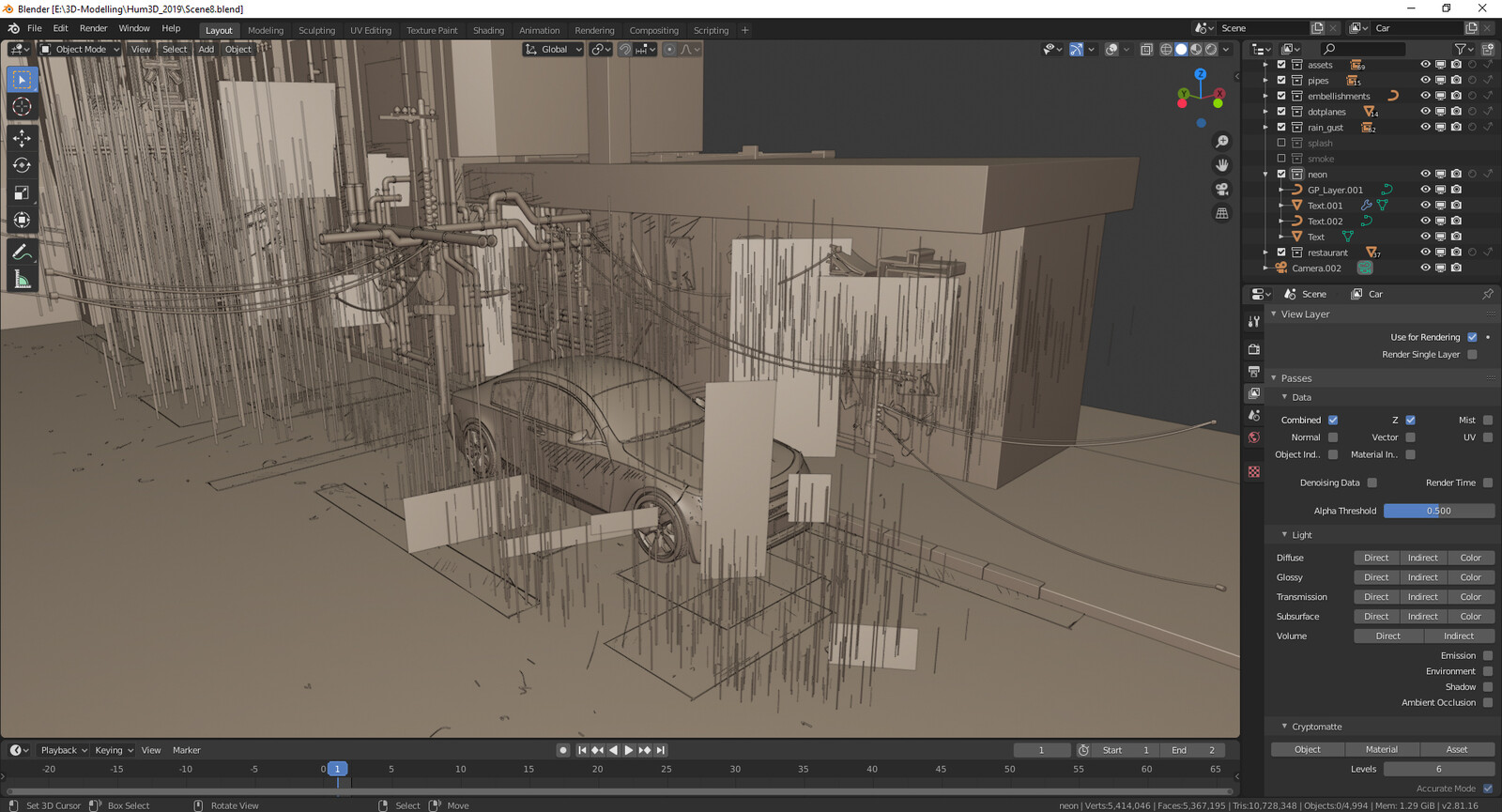 WIP 9: Viewport of the entire scene