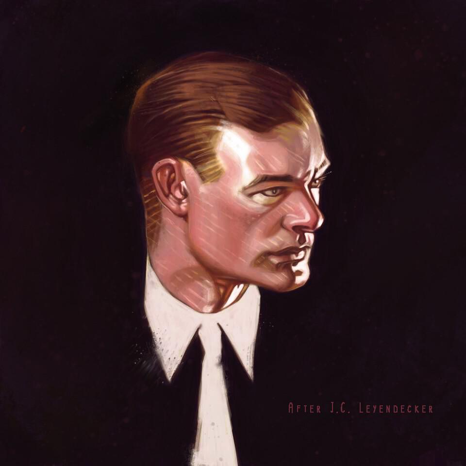 J.C. Leyendecker Portrait Study