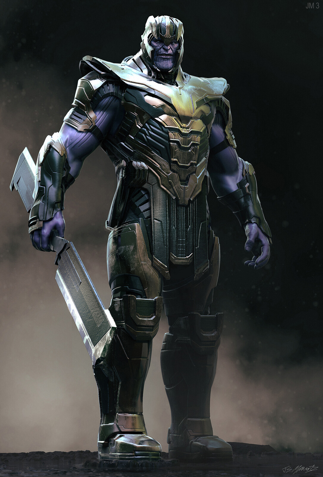 Avengers Endgame Warrior Thanos Design