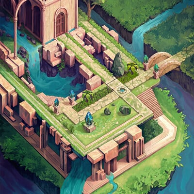 Fatih ozturk dream games environment illustration