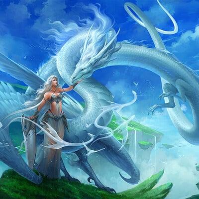 Sandara tang white sky dragon by sandara dcol7lf
