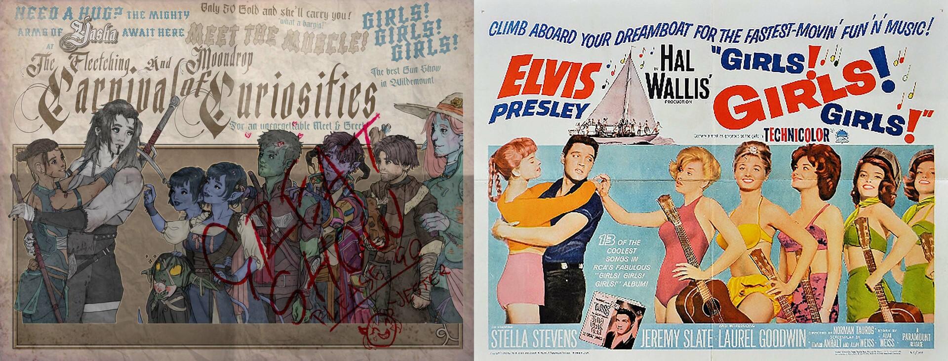 Original Reference - 1962 'Girls! Girls! Girls!' Film Poster
