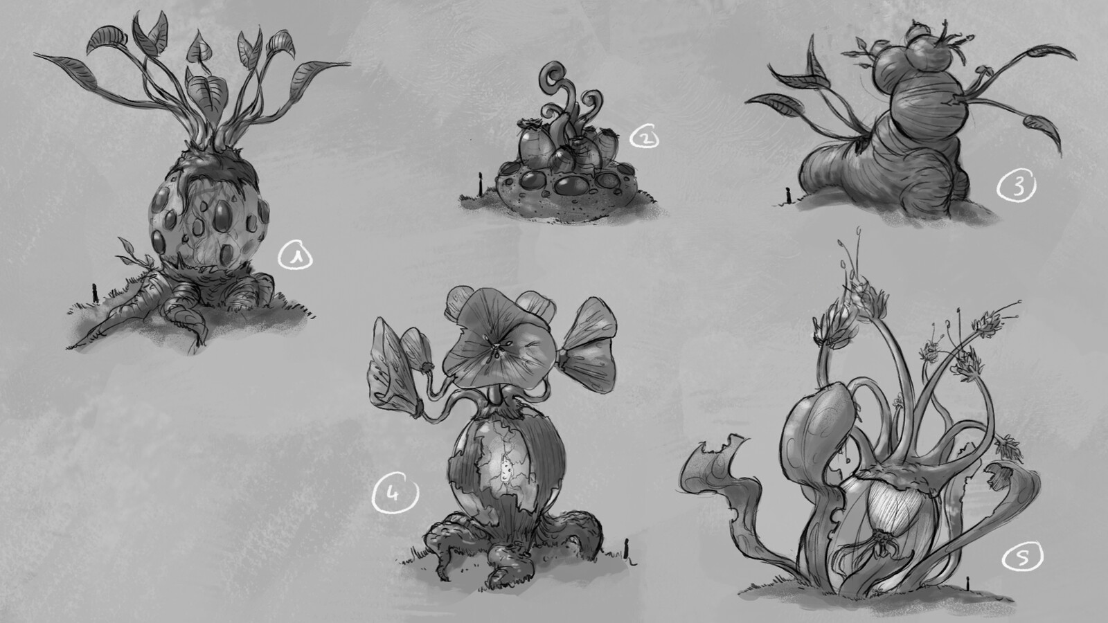 First concepts for Trees. I mixed some of the ideas.