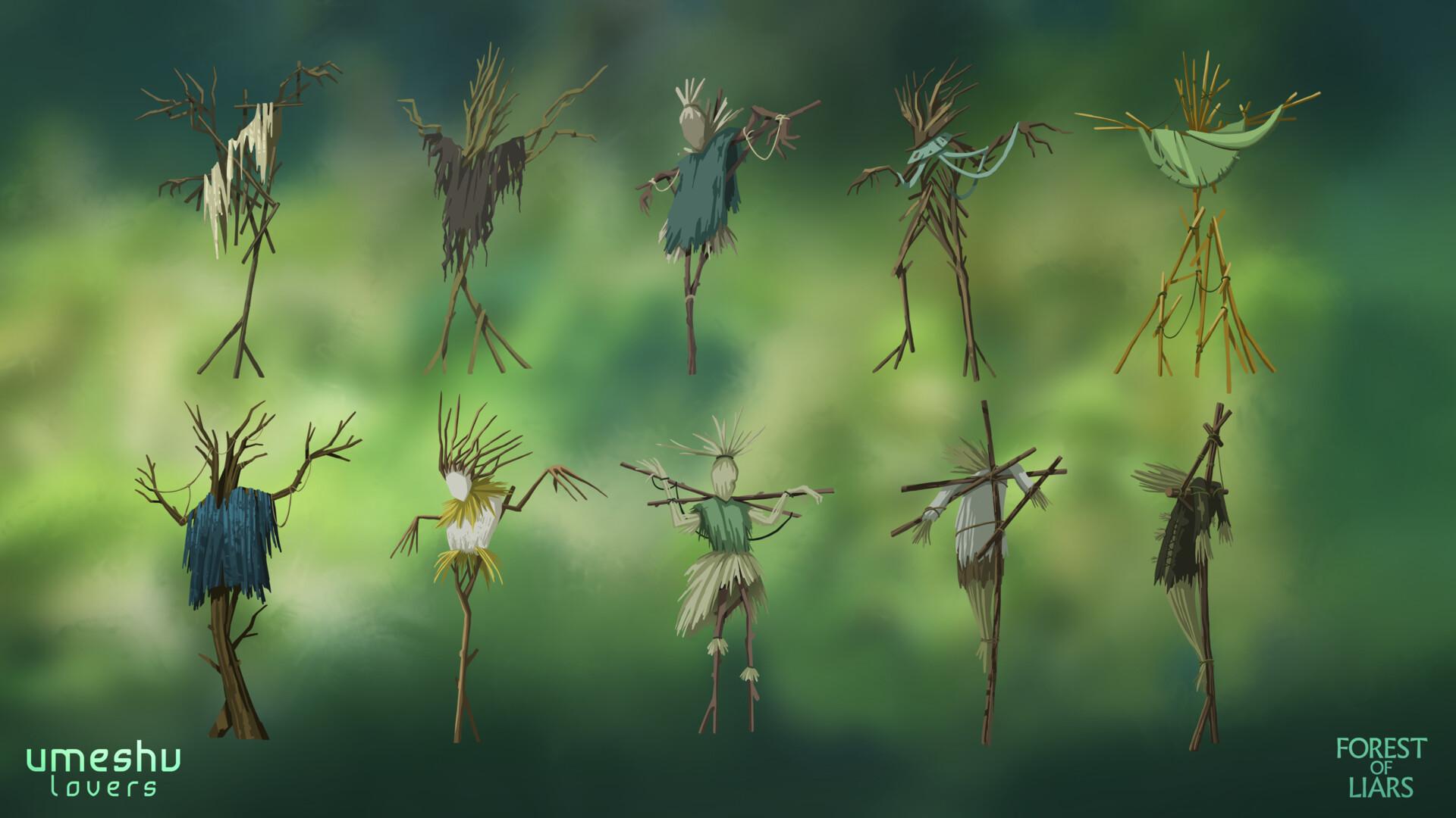 Lea dickert scarecrows