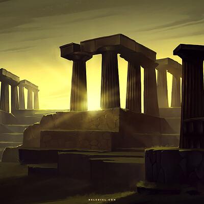 Nele diel morning light in the ruins