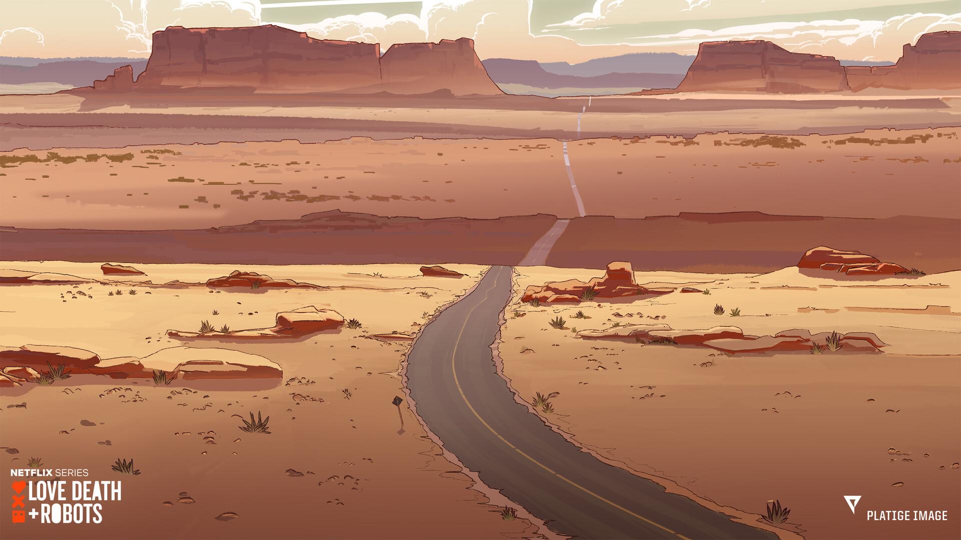 Opening shot background painting