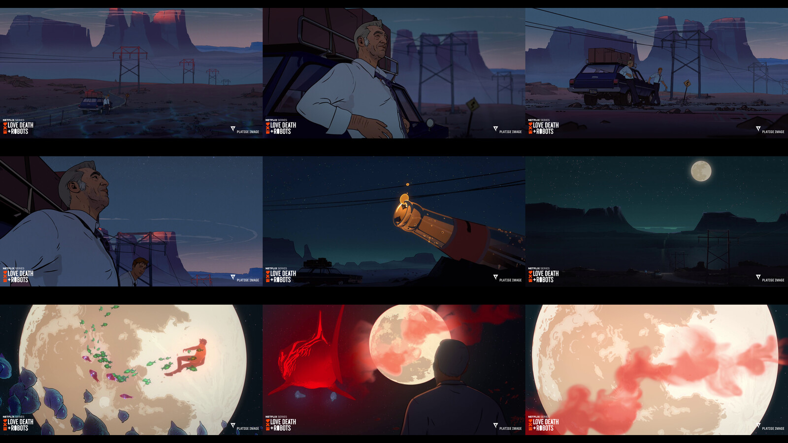 Final screenshots from the animated short