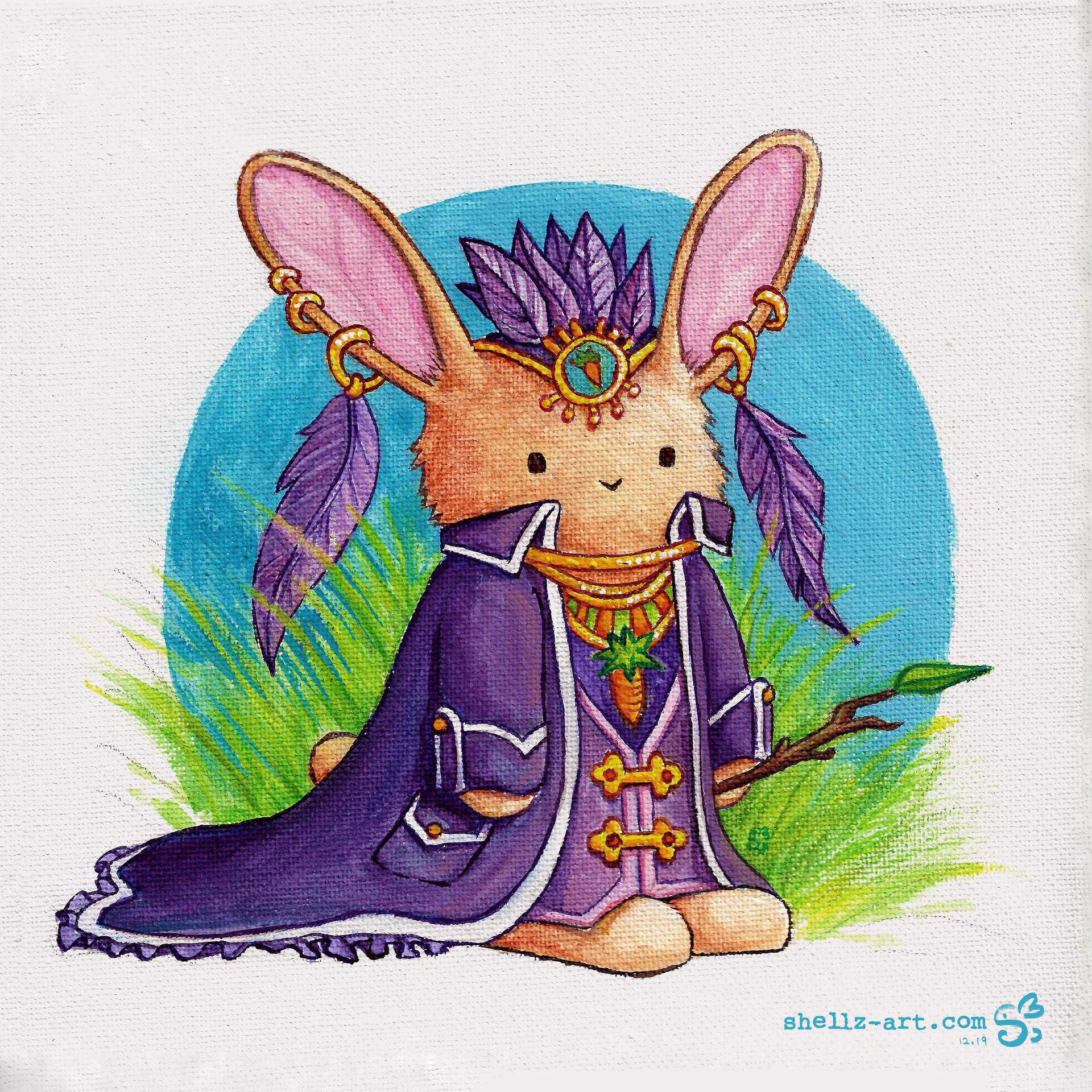 Shellz art the bunny of the ombawaybop tree s