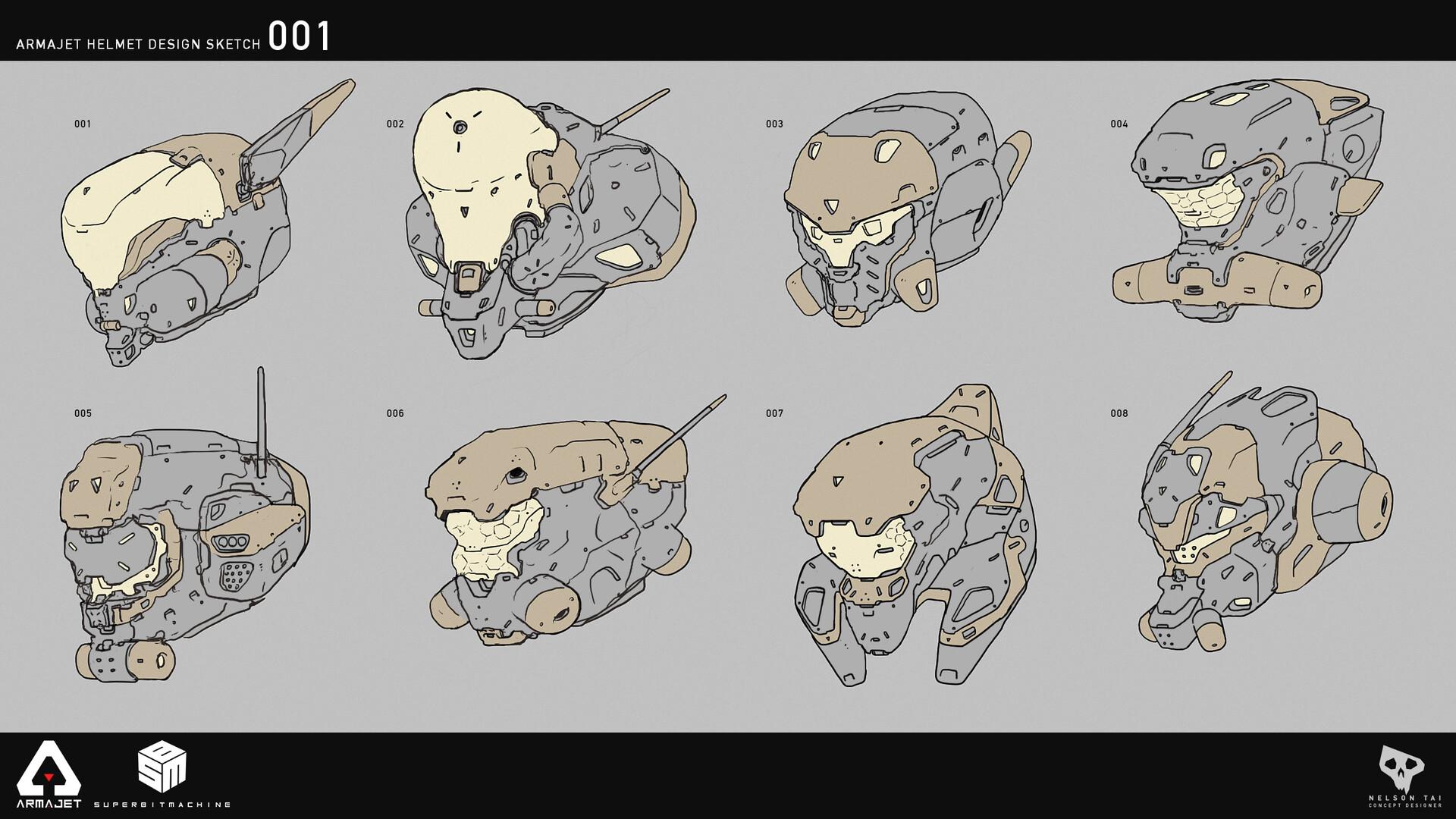 Armajet Helmet Designs
