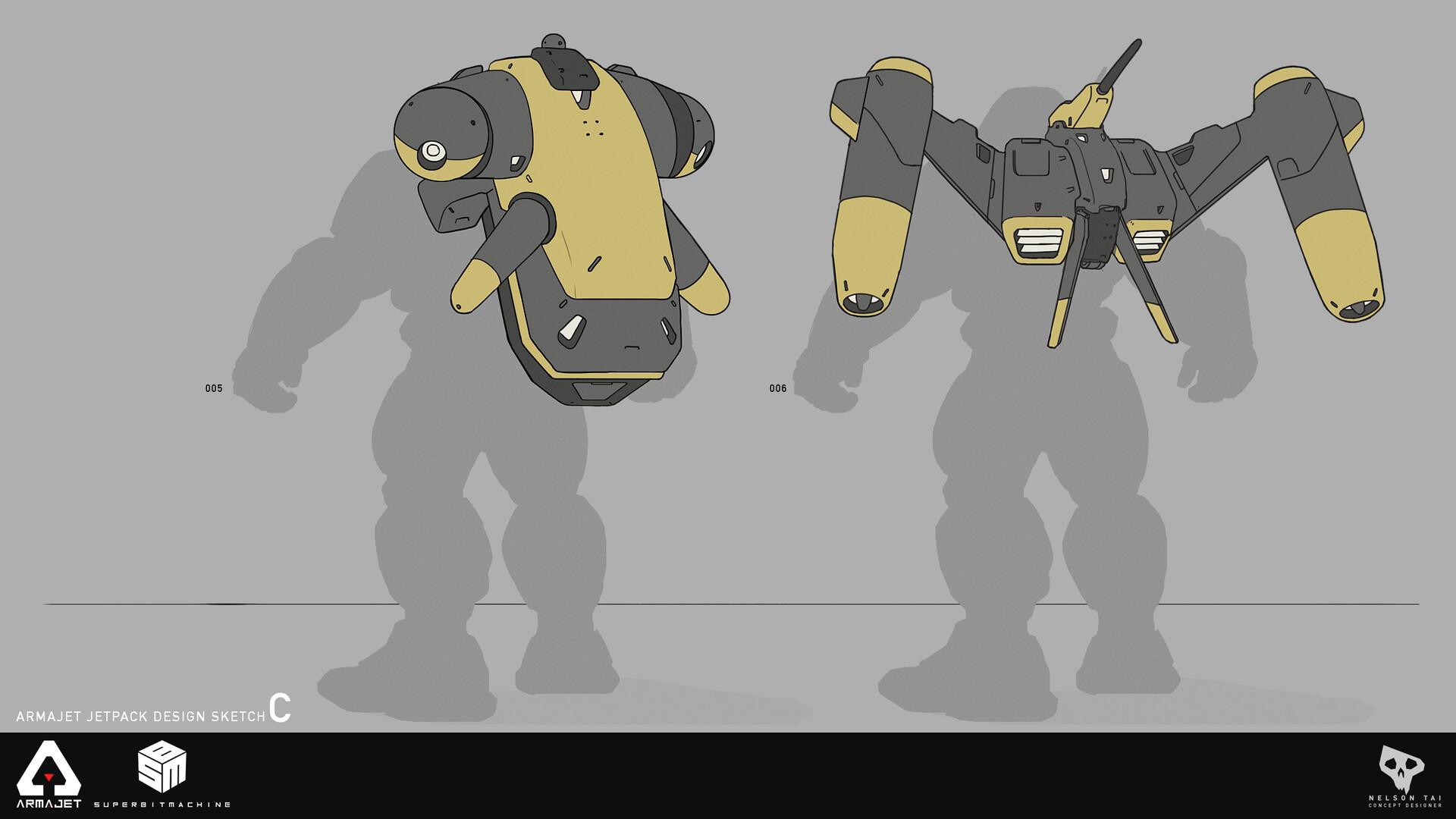 Armajet Jetpack Design C