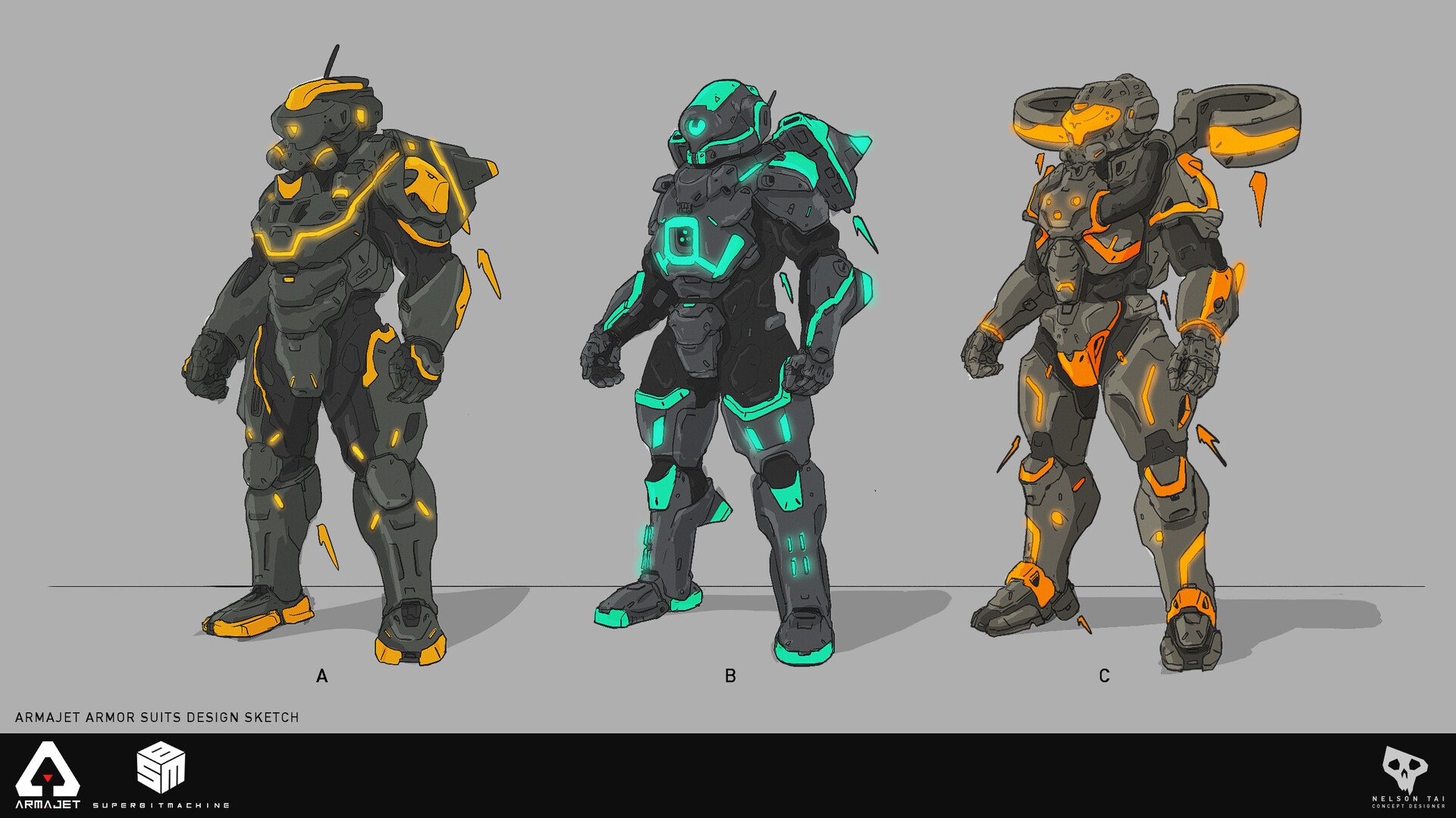 Was an important feature to have glowing armor to make the design more recognizable during the fast gameplay.