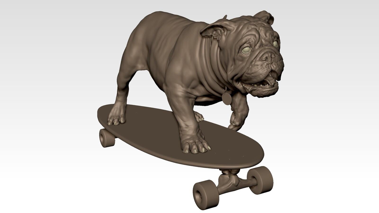 Churchill dog - Pose III