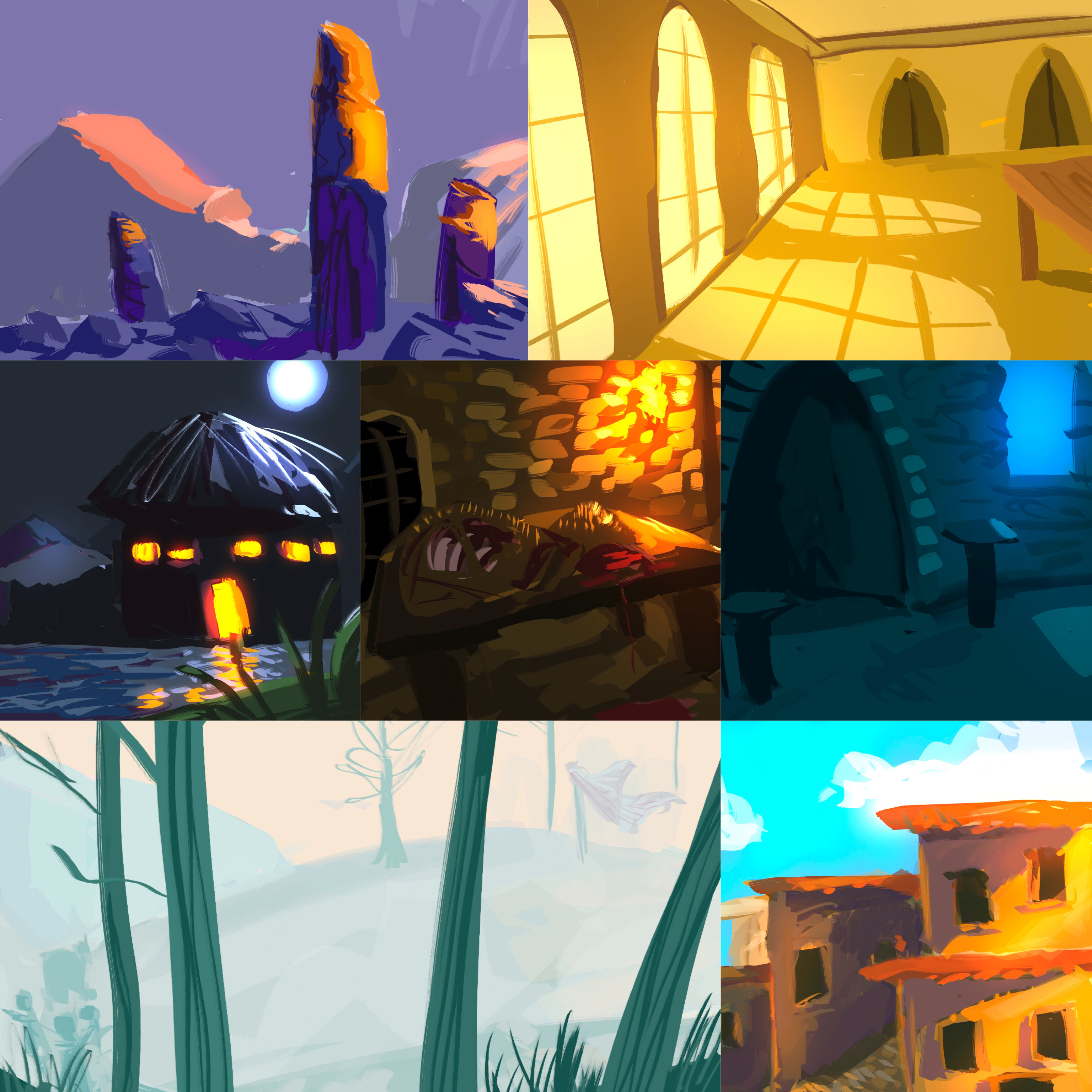 Collage of all seven studies!
