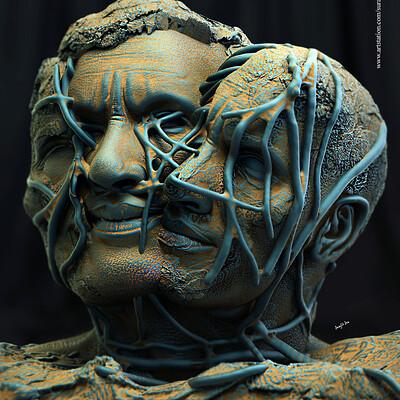Surajit sen in hex digital sculpture surajitsen dec2019a
