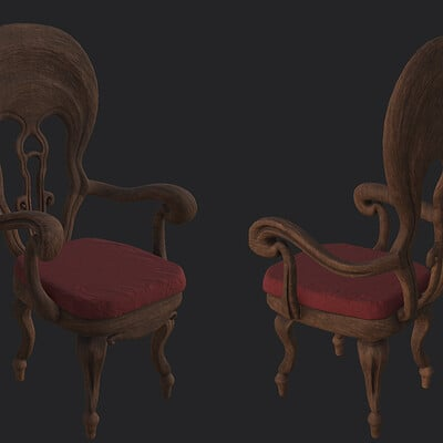 Victorian Dining Chair [game ready, for VR horror game]