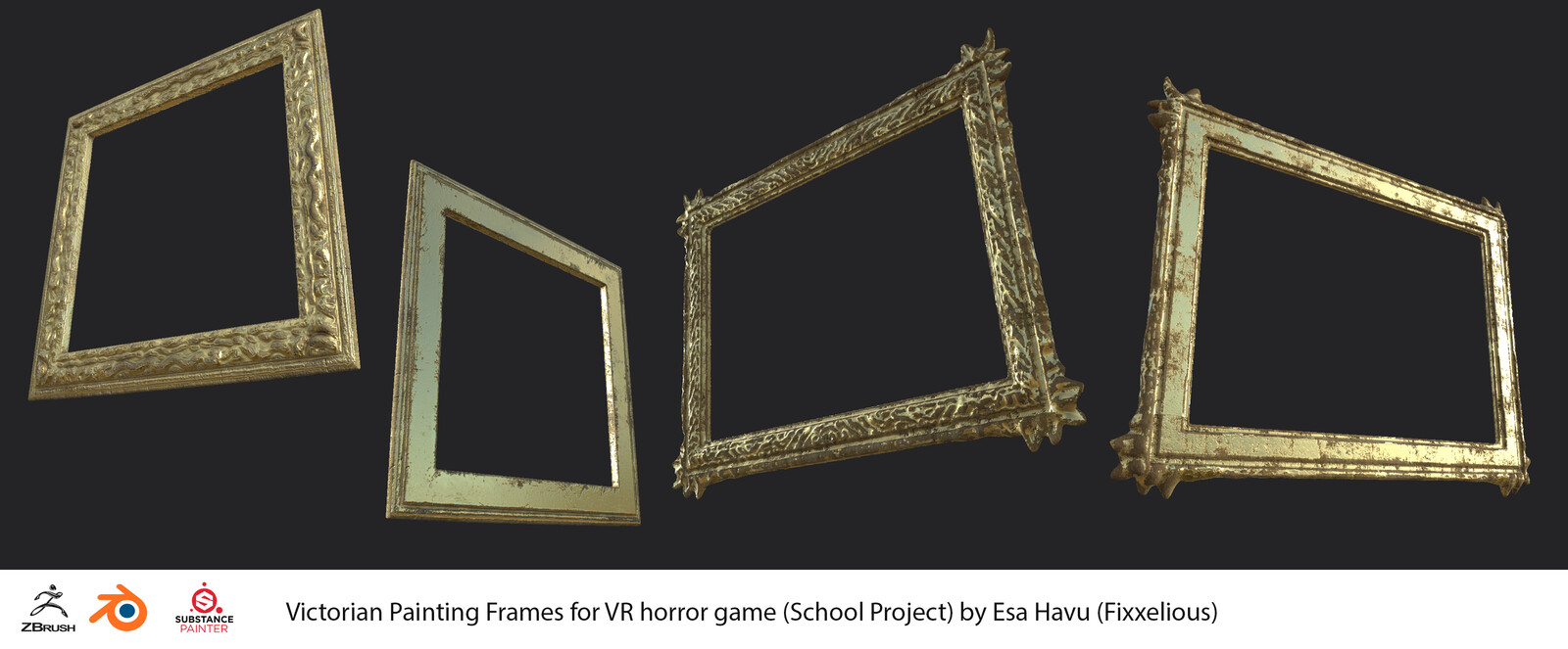 Victorian Painting Frames [VR horror game]