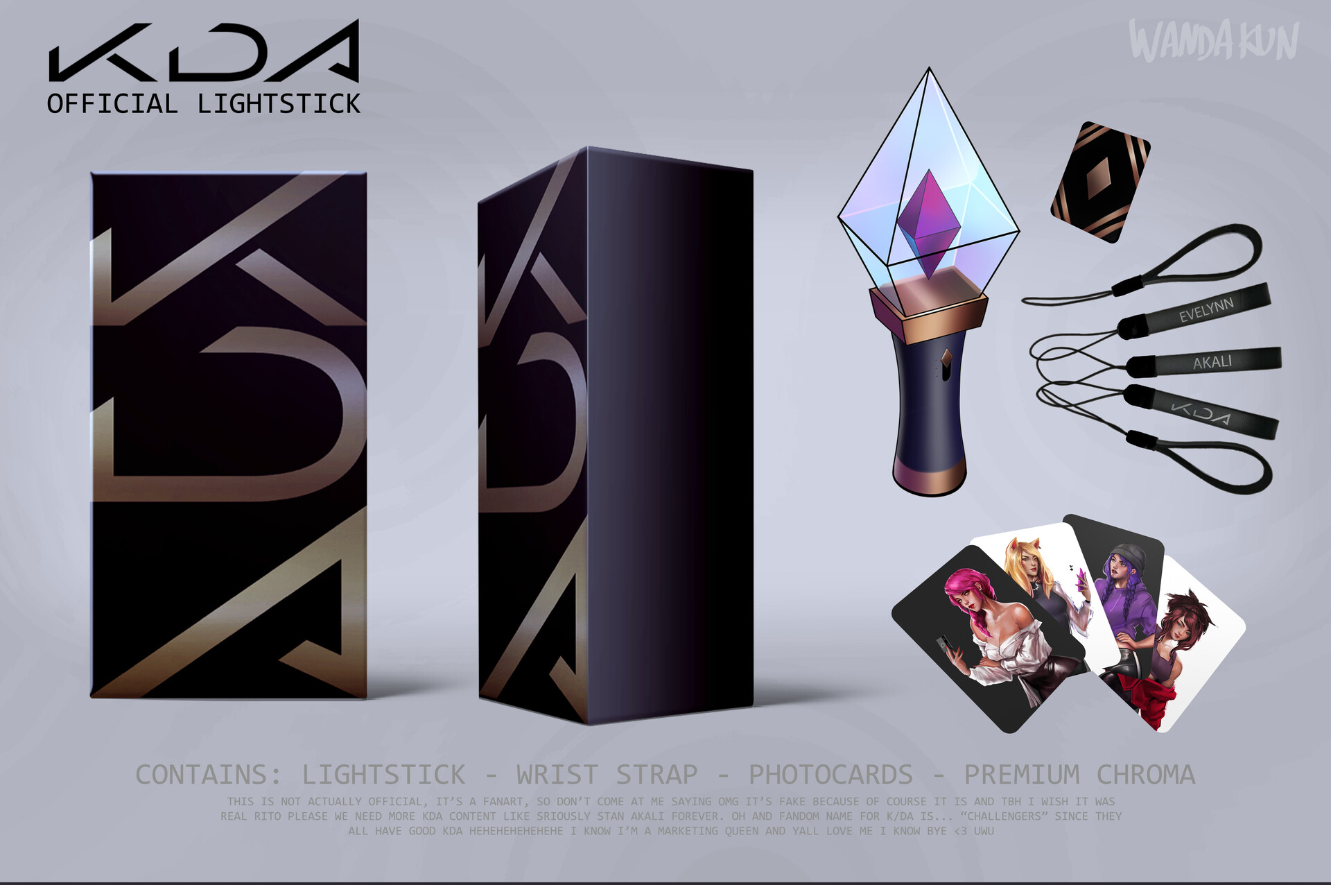 Artstation Kda Not Official Lightstick Fanart Concept Carmen Carballo Wandakun
