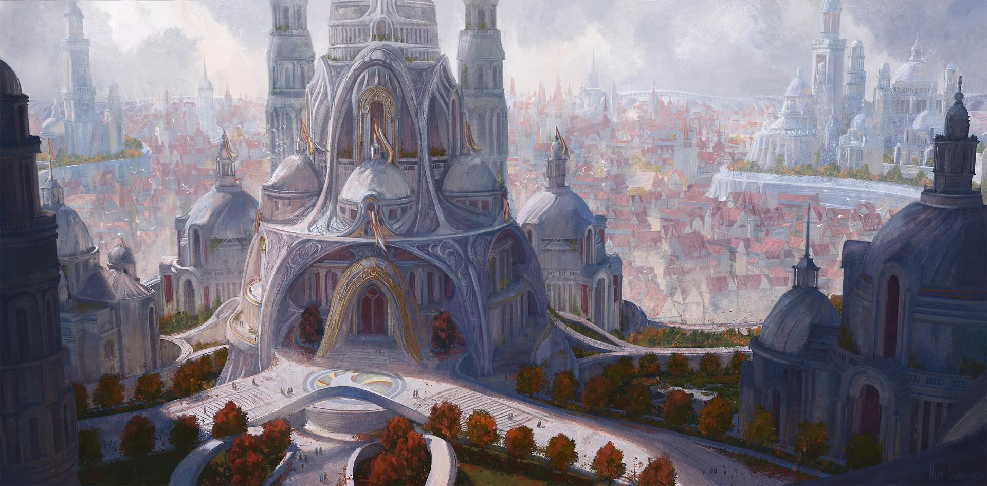 Artstation The White Tower Of Tar Valon Niek Schlosser
