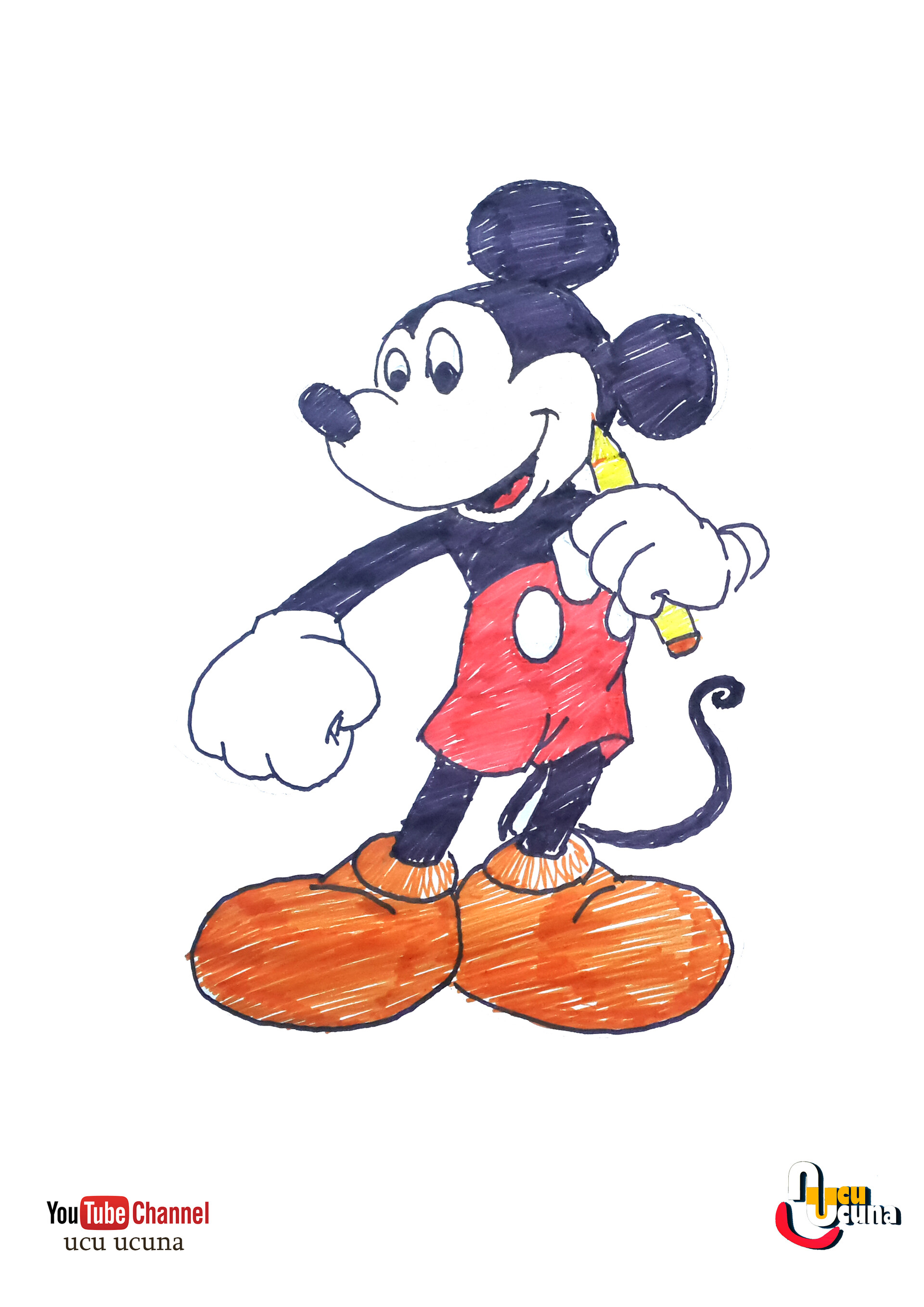 Artstation How To Draw Mickey Mouse Mickey Mouse Nasil Cizilir