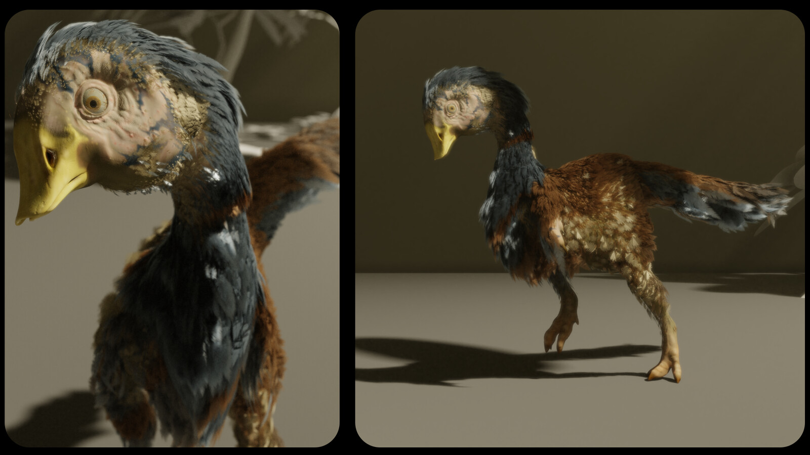 Front and Side shots rendered in Blender Cycles.