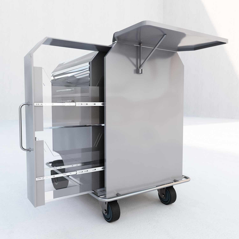 coffee mobile machine inside