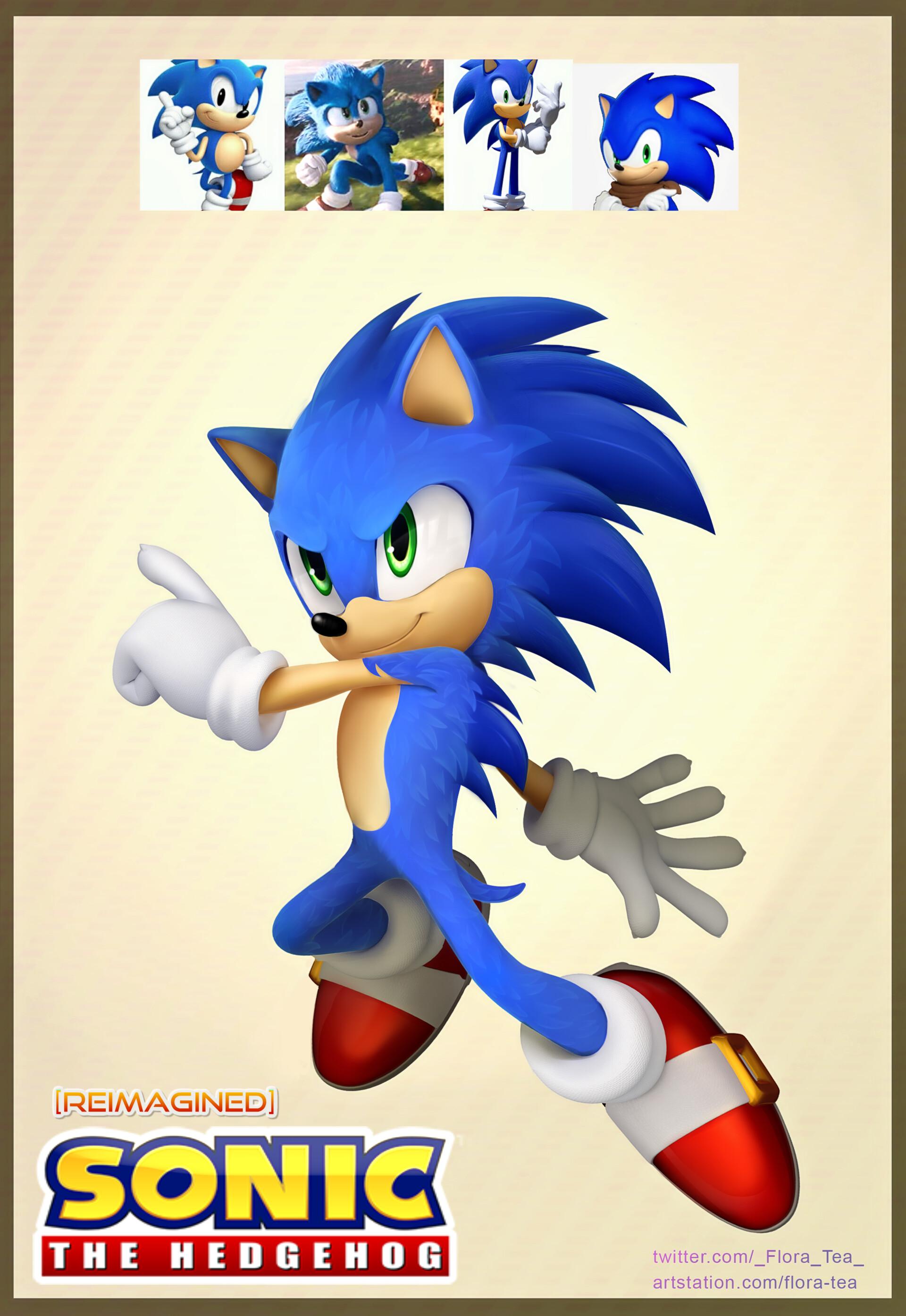 Artstation Reimagined Sonic The Hedgehog Monica Coleman